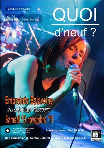 Novembre - Décembre - Centre Culturel Local de Nassogne