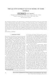 THE QUANTUM-FIELD VACUUM MODEL OF DARK ENERGY