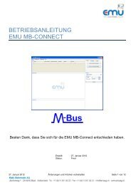 BETRIEBSANLEITUNG EMU MB-CONNECT - EMU Elektronik AG