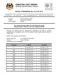 JABATAN LAUT SABAH - Jabatan Laut Malaysia