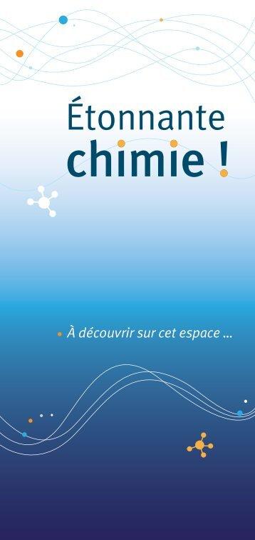 Le grand livre Étonnante chimie 3ème cycle - Palais de la découverte
