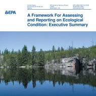 A Framework For Assessing and Reporting on Ecological Condition ...