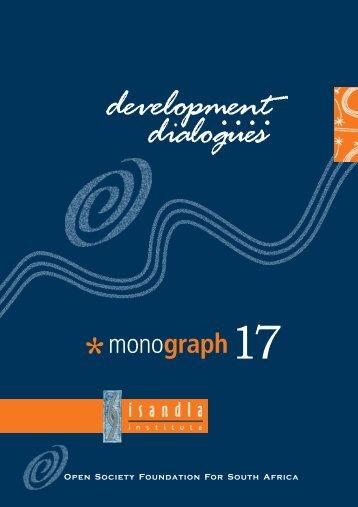 Monograph 17 - Isandla Institute