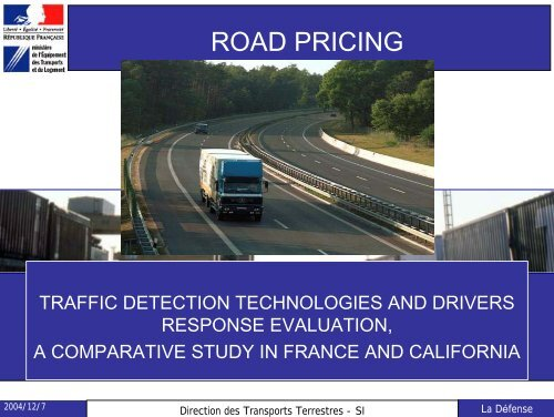 ROAD PRICING