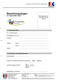 Bewerbungsbogen - Kindertagespflege FRG