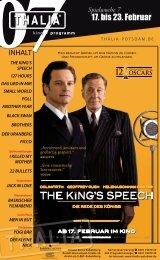THE KING'S SPEECH - Thalia Kino