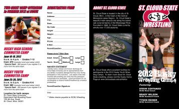 2012 Husky Wrestling Camps Brochure and ... - The Guillotine