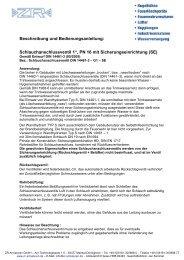"""Schlauchanschlussventil 1"""", PN 16 mit ... - ZR-Armaturen"""