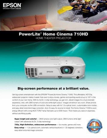 PowerLite® Home Cinema 710HD - Home Depot
