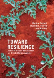 Toward Resilience: A Guide to Disaster Risk Reduction - ECB Project