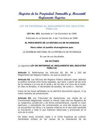 Registro de la Propiedad Inmueble y Mercantil - Poder Judicial