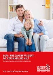 Folder Haushaltsversicherung - Wiener Städtische