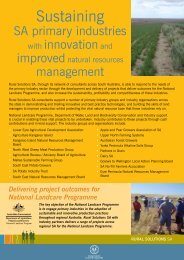Sustaining SA primary industries with innovation and improved ...