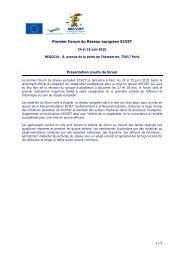 Premier Forum du Réseau européen ECVET - EVTA