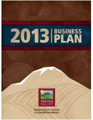 2013 Business Plan - Yakima Valley Visitors and Convention Bureau