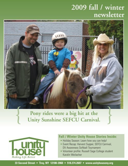 Newsletter December 2009 - Unity House