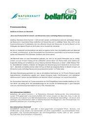 Presseaussendung Das Unternehmen bellaflora bellaflora, die ...