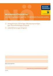 WOHNBAUFÖRDERUNG - Gemeinde Eggendorf