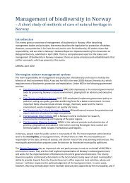Management of biodiversity in Norway - Sabima