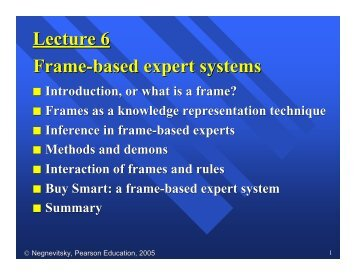 Frame based Expert Systems Notes - Negnevitsky (in PDF format)