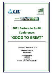 Pasture to Profit draft simple programme - British Grassland Society