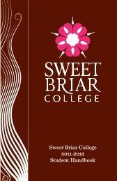 2011-12 Student Handbook - Sweet Briar College