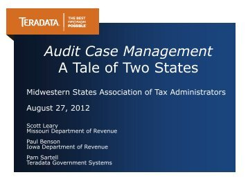 Audit Case Management A Tale of Two States - Federation of Tax ...