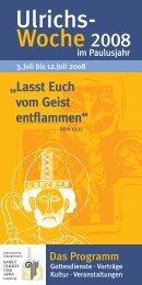 Woche Ulrichs- - Die Wallfahrt zu den Augsburger Bistumspatronen