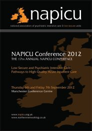 NAPICU Conference 2012 - East of England Multi-Professional ...