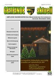 Gemeinde aktuell - Dezember 2008