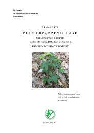 plan urz ą dzenia lasu - Państwowe Gospodarstwo Leśne LASY ...