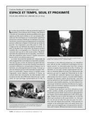 espace et temps, seuil et proximité - Annales de la recherche urbaine