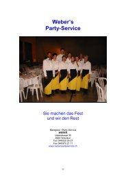 Weber's Party-Service - Metzgerei Weber
