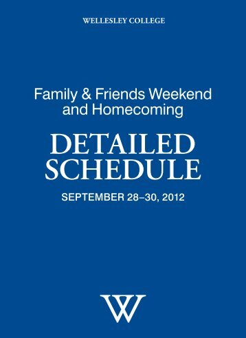 Family & Friends Weekend and Homecoming - Wellesley College