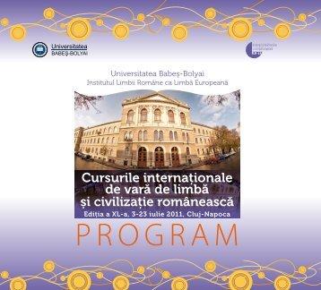 vezi aici broşura cursurilor (.pdf) - Ziua de Cluj