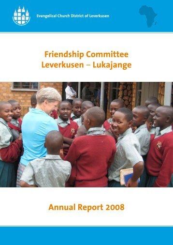 Friendship Committee Leverkusen – Lukajange Annual Report 2008