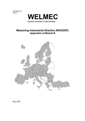Measuring Instruments Directive 2004/22/EC ... - WELMEC