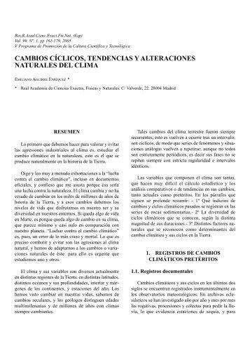 Texto completo - Real Academia de Ciencias Exactas, Físicas y ...