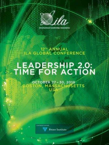 leadership 2.0: time for action - International Leadership Association