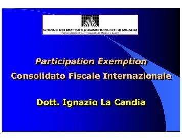 Participation Exemption Consolidato Fiscale Internazionale Dott ...