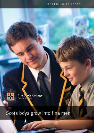 Boarding Brochure - The Scots College