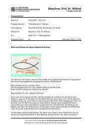 Belschner, Prof. Dr. Wilfried - 31. Deutscher Evangelischer ...