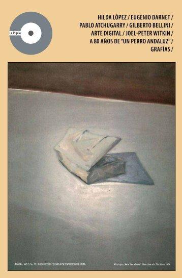 hilda lópez / eugenio darnet / pablo atchugarry ... - Revista La Pupila