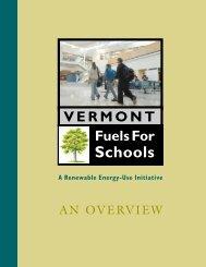 Vermont Fuels For Schools Initiative - Biomass Energy Resource ...