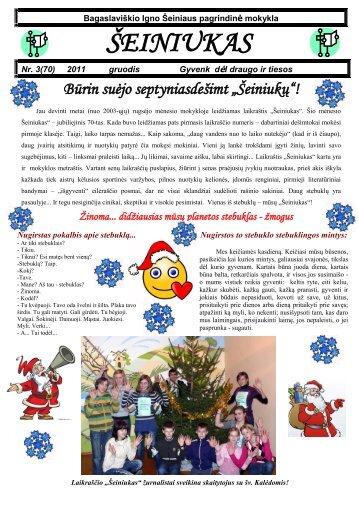 2011-12,Nr.70 - Bagaslaviškio Igno Šeiniaus pagrindinė mokykla