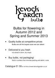 pdf version of the catalogue - Kevock Garden