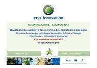 Il Programma CIP Eco-innovazione e il Bando 2013 ... - Corrente - Gse