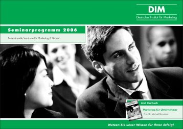 Katalog als PDF-Dokument - Deutsches Institut für Marketing