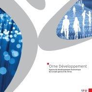 Plaquette de promotion d'Orne Développement