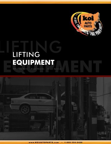 KOI Auto Parts - Lifting Equipment Catalog - Who-sells-it.com